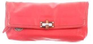 Lanvin Happy Popla Leather Clutch