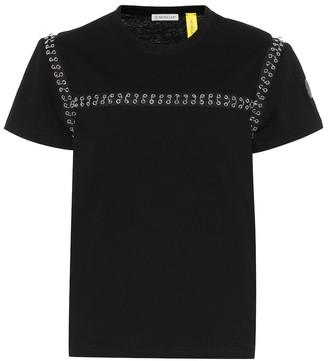 Noir Kei Ninomiya Moncler Genius 6 MONCLER embellished cotton T-shirt