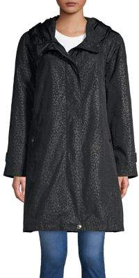 Gallery Leopard Quarter Hooded Raincoat