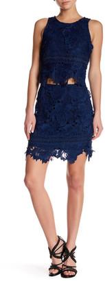 Lovers + Friends Crochet Lace Knit Skirt $136 thestylecure.com