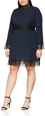 JEM Wolf and Whistle Curve Women's Micro Pleat and Lace Long Sleeve Party Dress,UK (48 EU)