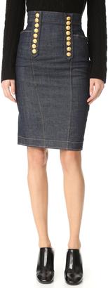 DSQUARED2 Denim Pencil Skirt $685 thestylecure.com
