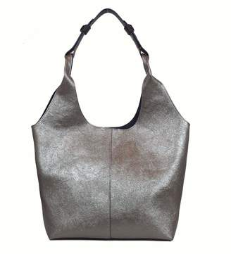 Un Billion Addison Shoulder Bag in Silver Vegan Leather
