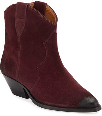 Isabel Marant Dewina Suede Pointed Booties