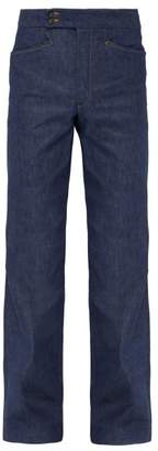 Maison Margiela High Rise Flared Denim Jeans - Mens - Indigo