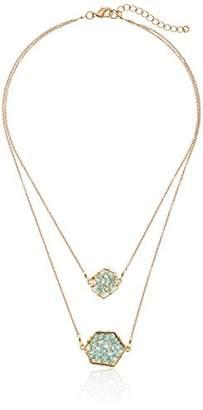 Panacea Crystal Geo Layered Necklace
