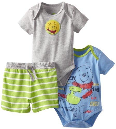 Disney Baby-Boys Newborn 2 Bodysuits and Pants Set