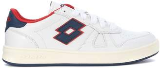 Lotto Leggenda Signature White, Blue And Red Leather Sneaker