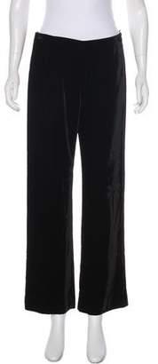 Valentino High-Rise Velvet Pants
