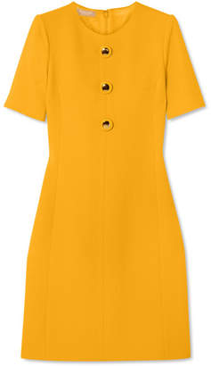 Michael Kors Wool-blend Crepe Dress - Yellow