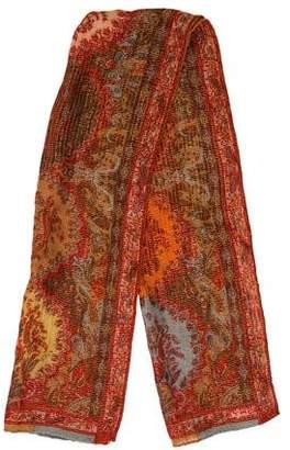 Etro Patterned Silk & Wool-Blend Scarf