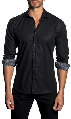 Jared Lang Woven Trim Fit Shirt $149 thestylecure.com