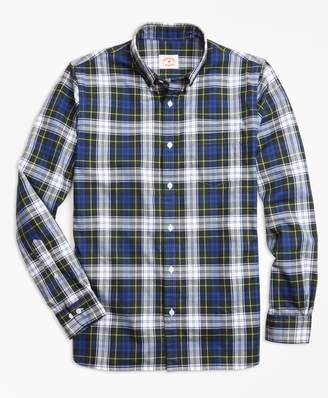 Brooks Brothers Gordon Dress Tartan Cotton Flannel Sport Shirt