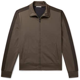 Bottega Veneta Jacquard-Trimmed Tech-Jersey Track Jacket