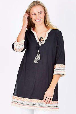 Talisman Designs NEW Womens Short Dresses Isleta Dress Black