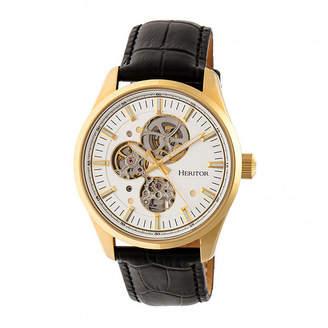 Heritor Unisex Black Strap Watch-Herhr6505