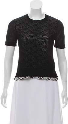 Louis Vuitton Wool Mesh Top