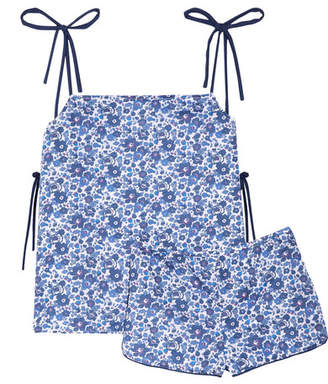 Three J NYC Brigette Floral-print Cotton-poplin Pajama Set - Blue