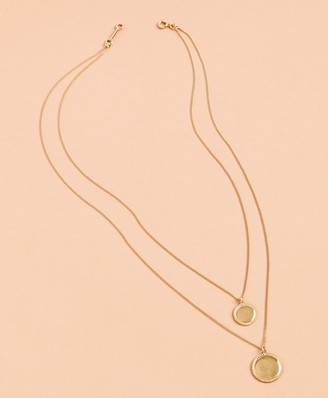 Brooks Brothers Demi Fine Layered Disk Necklace