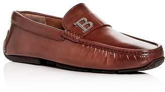 Bally Men's Pievo Leather Moc-Toe Drivers
