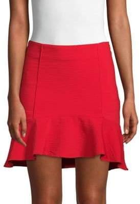 J.o.a. Ruffle Hem Mini Skirt