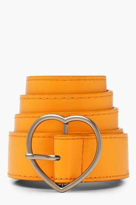 boohoo Love Heart Buckle Boyfriend Belt