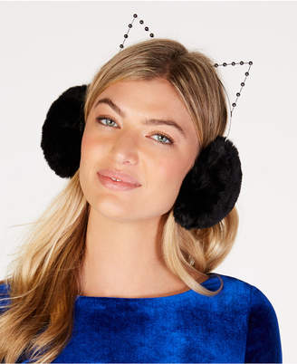 BCBGMAXAZRIA Faux-Fur Cat Earmuffs