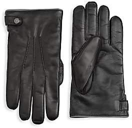 Saks Fifth Avenue Leather Tech Gloves
