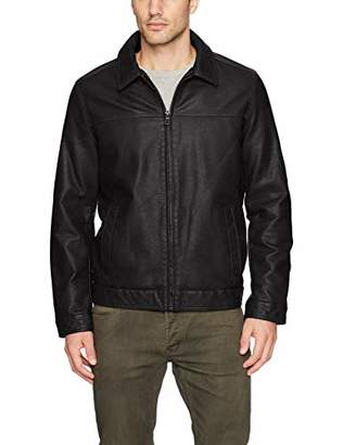 Tommy Hilfiger Men's Big Tall Classic Faux Leather Jacket