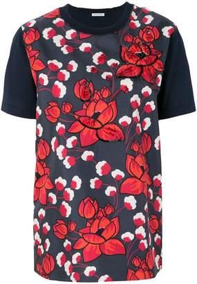 Moncler floral appliqué T-shirt