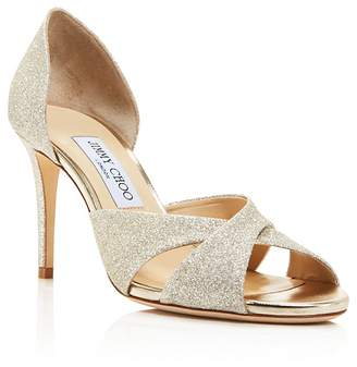 Jimmy Choo Women's Lara 85 Glitter d'Orsay High-Heel Sandals