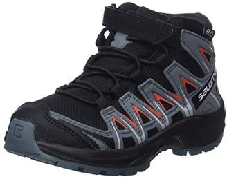 Salomon XA Pro 3D MID CSWP K, Hiking Shoes, Waterproof, /Stormy Weather/Cherry Tomato, Size 10.5