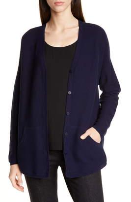 Eileen Fisher V-Neck Tencel® Lyocell Blend Cardigan