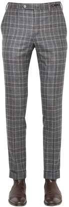 Pt01 18cm Evo Fit Plaid Brushed Wool Pants