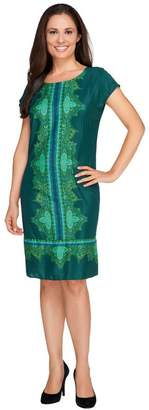 Isaac Mizrahi Live! Paisley Print Short Sleeve Dress
