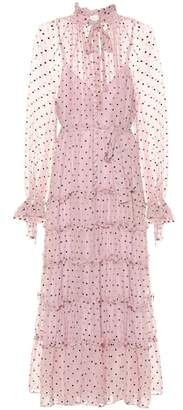 Zimmermann Ninety-Six silk tie-neck dress