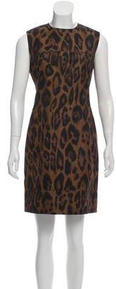 Lanvin Animal Pattern Shift Dress