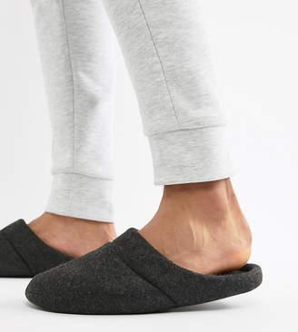 Asos DESIGN slip on slippers in black marl