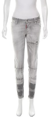 Dsquared2 Distressed Skinny Jeans $130 thestylecure.com