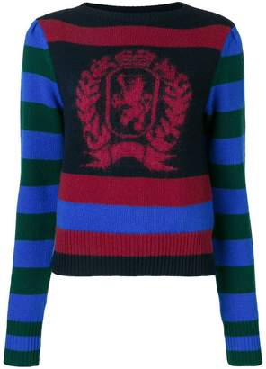Tommy Hilfiger (トミー ヒルフィガー) - Hilfiger Collection striped logo sweater