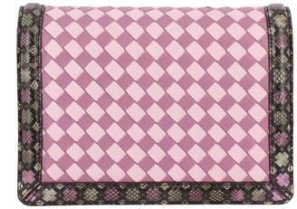 Bottega Veneta Mini Bag Crossbody Bag Montebello Small With Two-tone Woven Pattern And Snake Print Edges