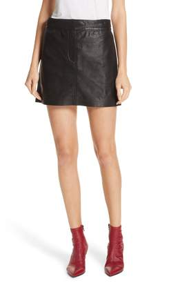 Rag & Bone Mila Lambskin Leather Miniskirt
