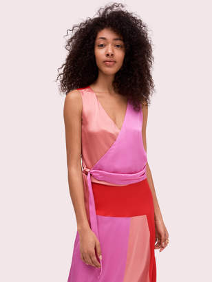 Kate Spade colorblock wrap top