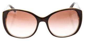 Tory Burch Gradient Round Sunglasses