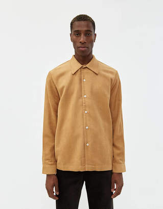 Séfr Ripley Brushed Twill Shirt in Beige