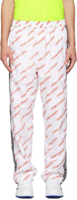 Opening Ceremony White Nylon Logo Warm-Up Lounge Pants