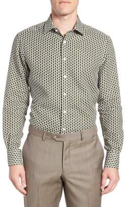 Nordstrom Strong Suit Edmond Slim Fit Medallion Dress Shirt Exclusive)