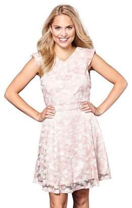 Yumi Pink Butterfly Print Skater Dress