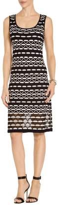 St. John Textural Wave Knit Dress