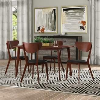 George Oliver Bulgera Modern Wood 5 Piece Dining Set